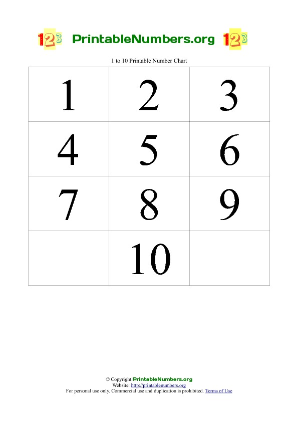 6 Images of Free Printable Numbers 1 -20