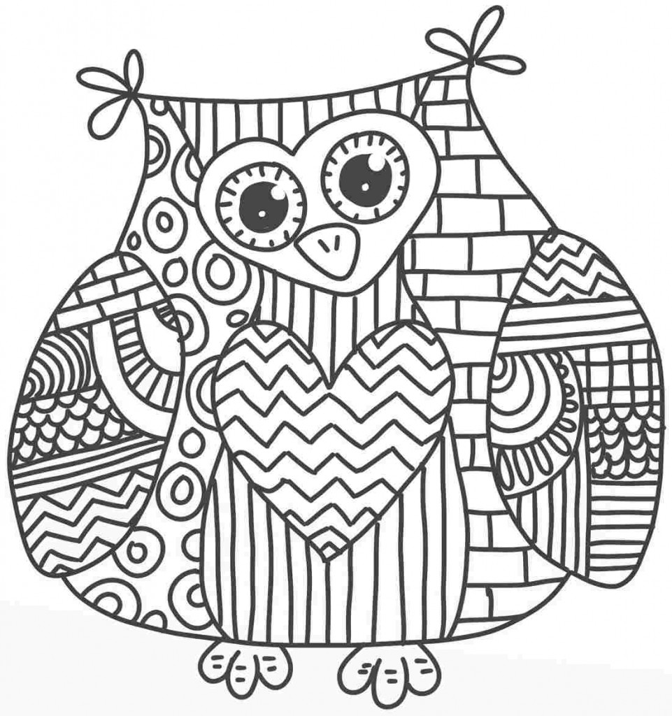 6 Images of Printable Owls For Adults