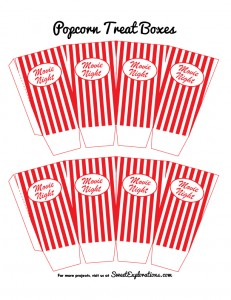 7 Images of Free Printable Popcorn