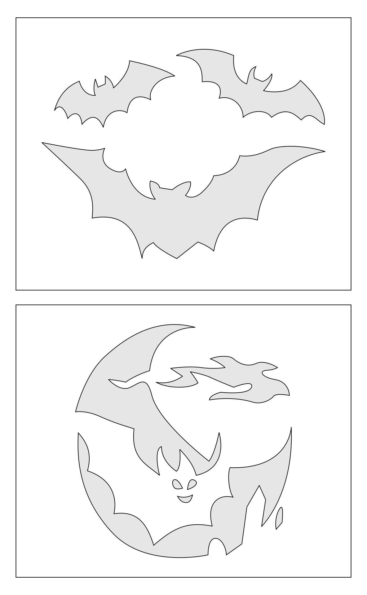 Free Printable Pumpkin Stencils Bat
