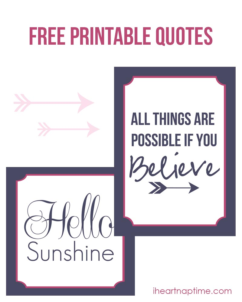 5 Images of Printable Sayings To Frame