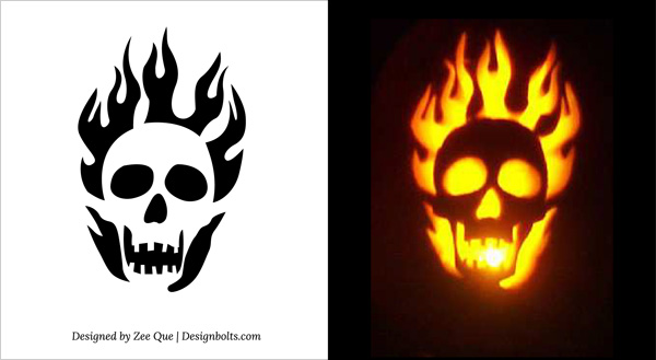 8 Images of Scary Pumpkin Stencils Printable