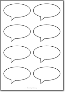 6 Images of Printable Speech Bubble Template