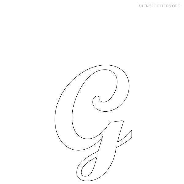 6 best images of free printable letter stencils g for Large cursive letter stencils