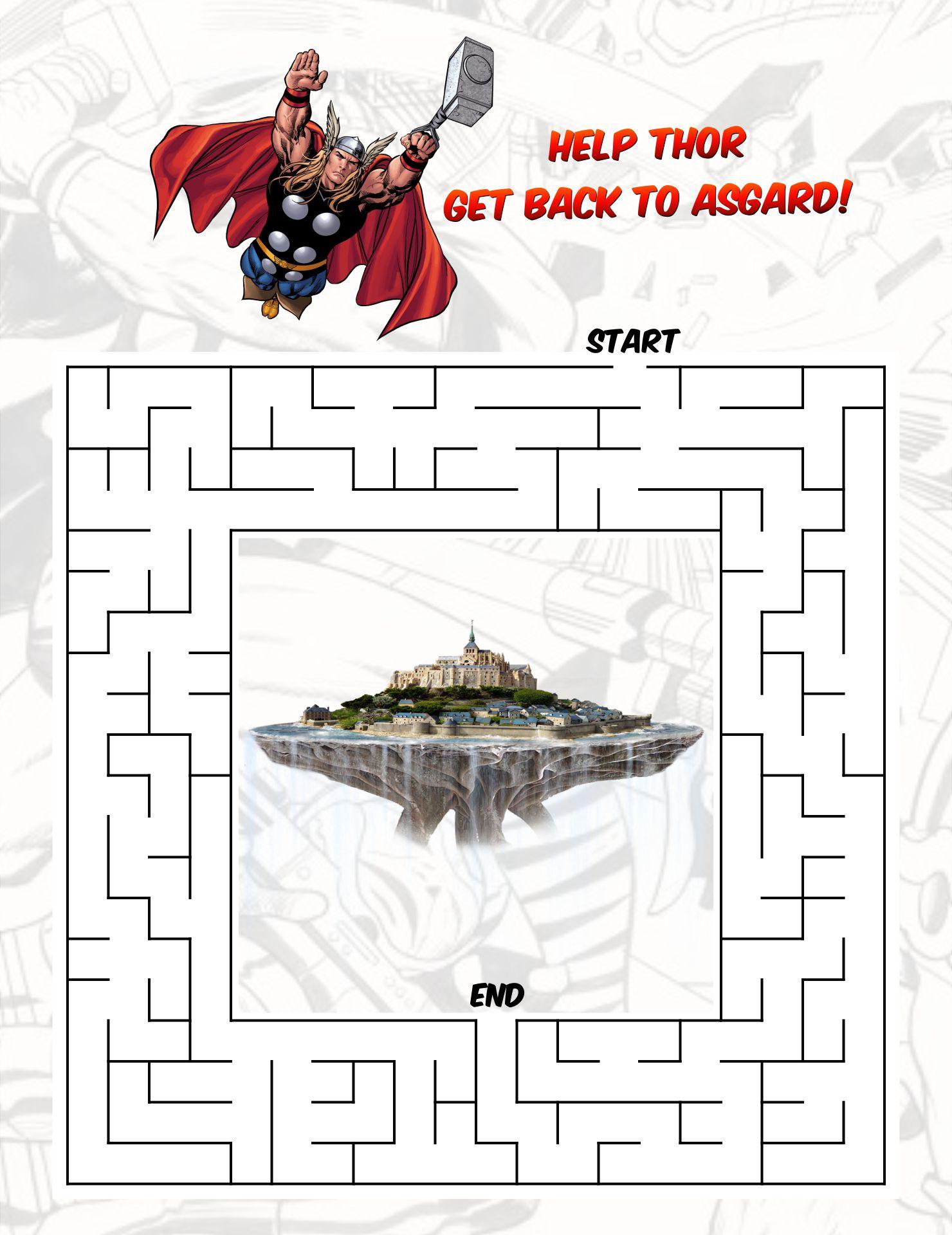 Printable Superhero Mazes