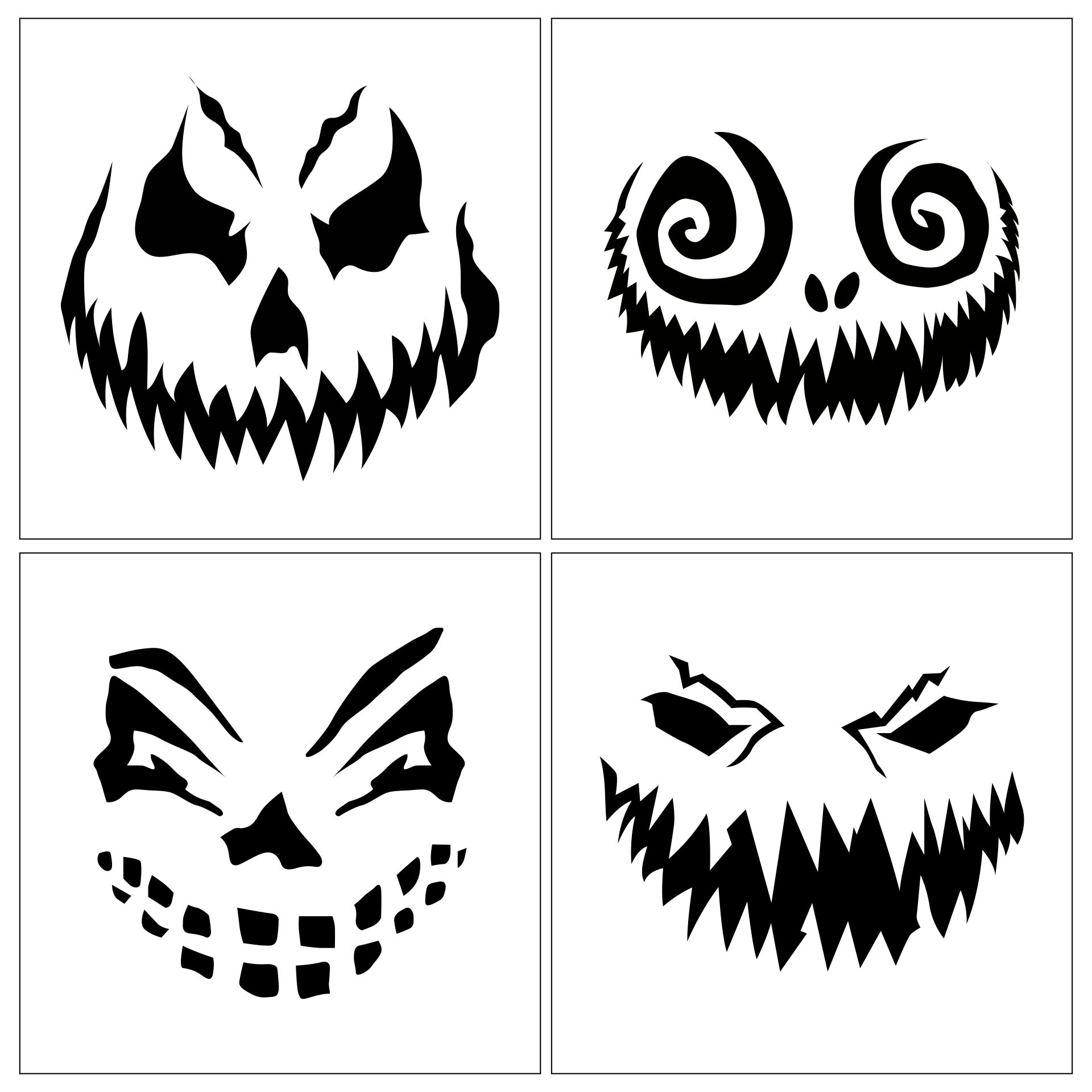 Stencils to Print and Cut Out