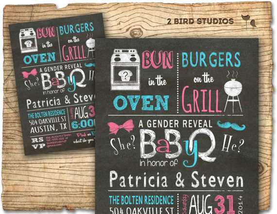 7 Images of Gender Reveal BBQ Party Free Printables