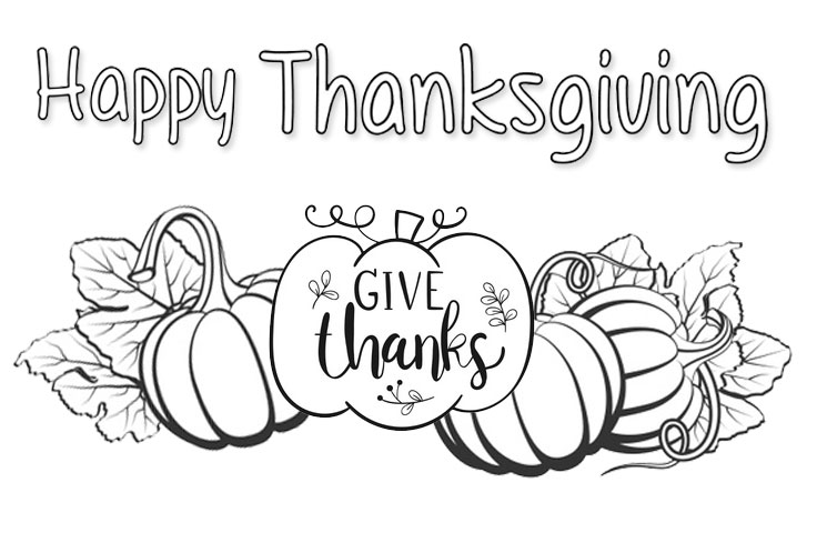 10 Best Thanksgiving Coloring Printables - Printablee.com