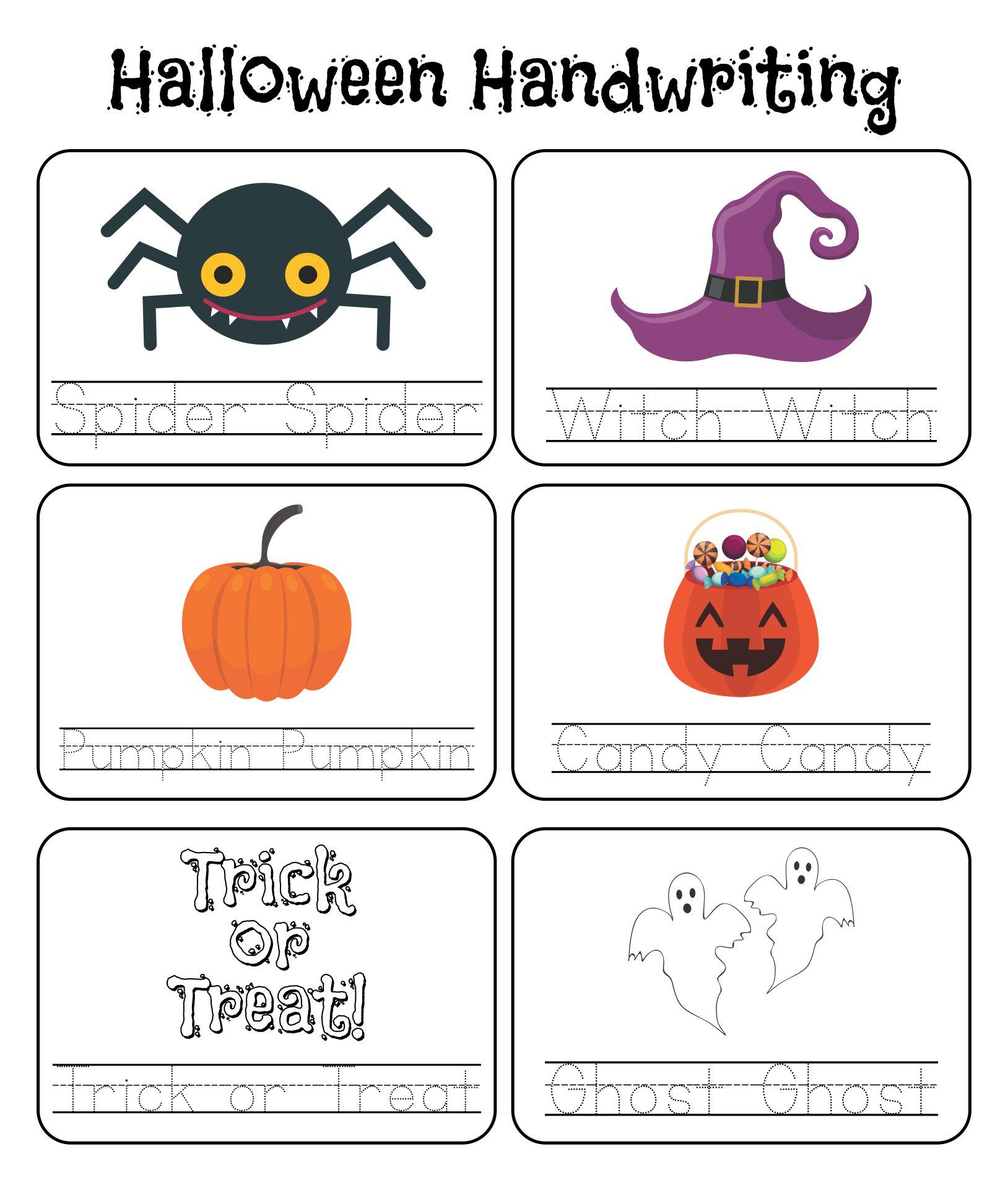Kindergarten Halloween Worksheets Printables