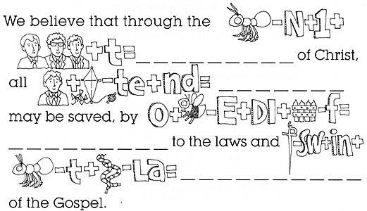 article of faith coloring pages - photo#9