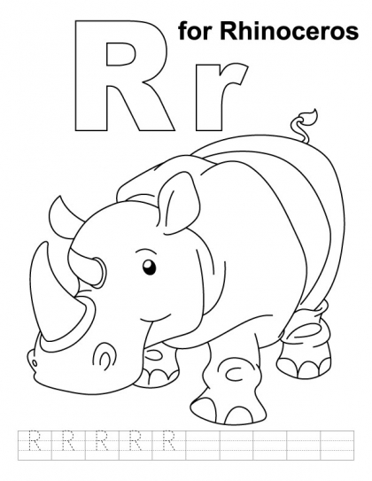 6 Images of Letter RR Printable Coloring Pages