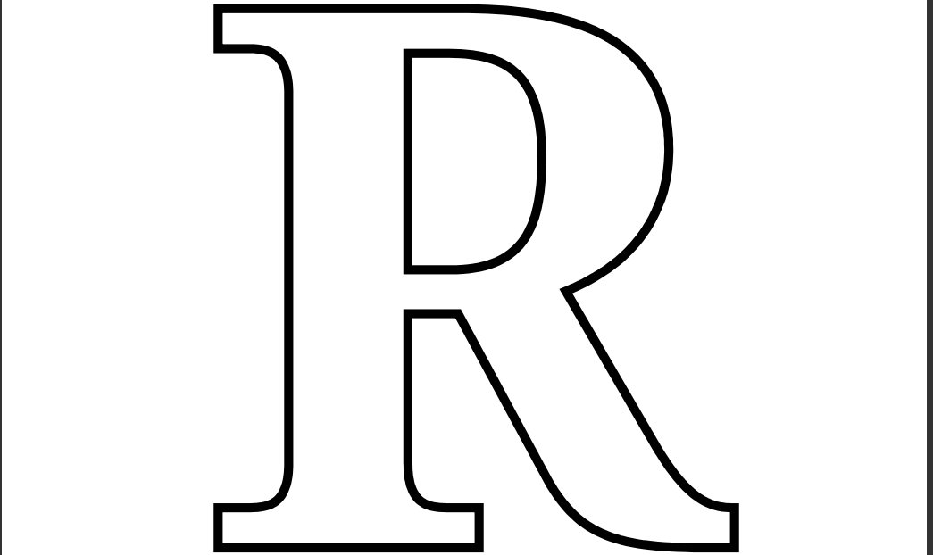 4 Images of Letter R Coloring Printables