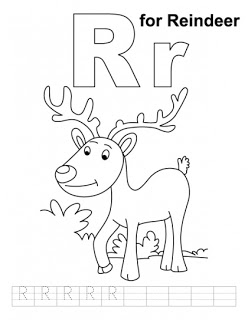 Letter R for Reindeer Worksheet