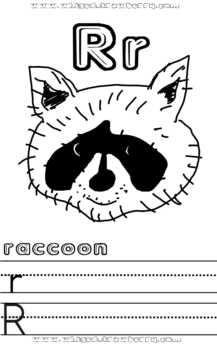 Letter RR Coloring Page
