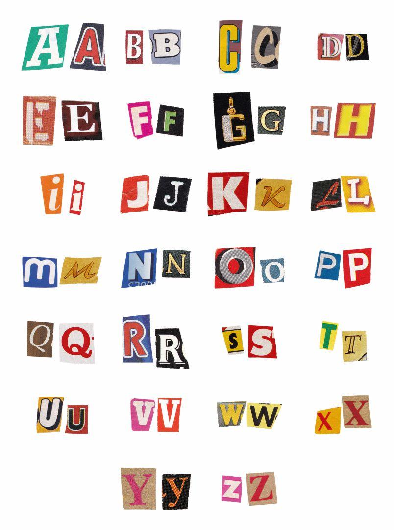 Magazine Letters Alphabet