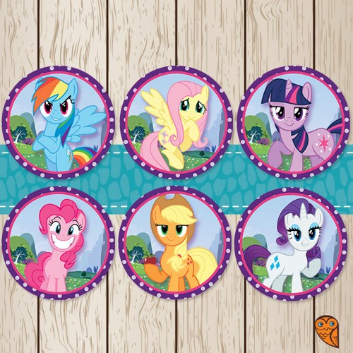 5 Images of My Little Pony Printable Candy Bag