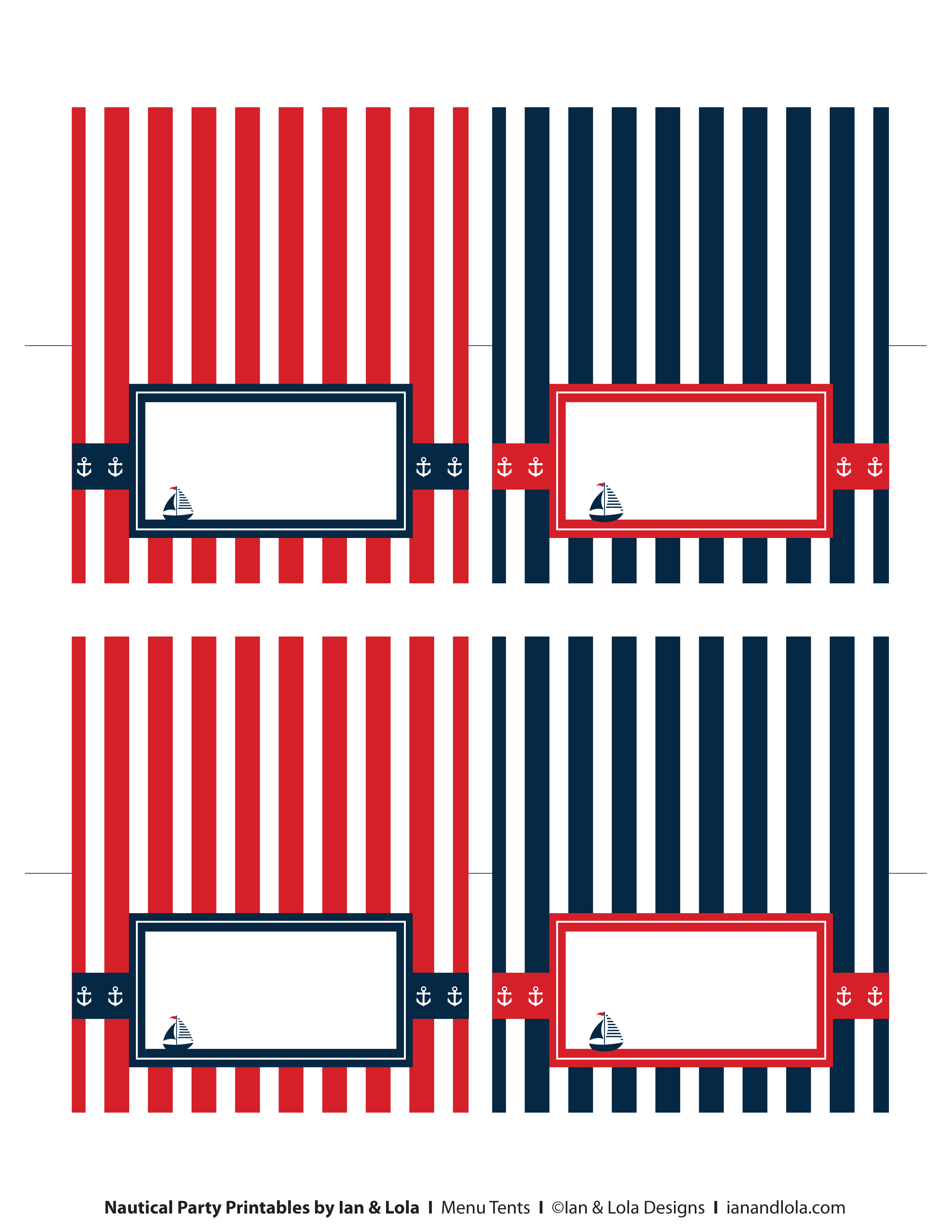 7 Images of Nautical Party Printables By Ian