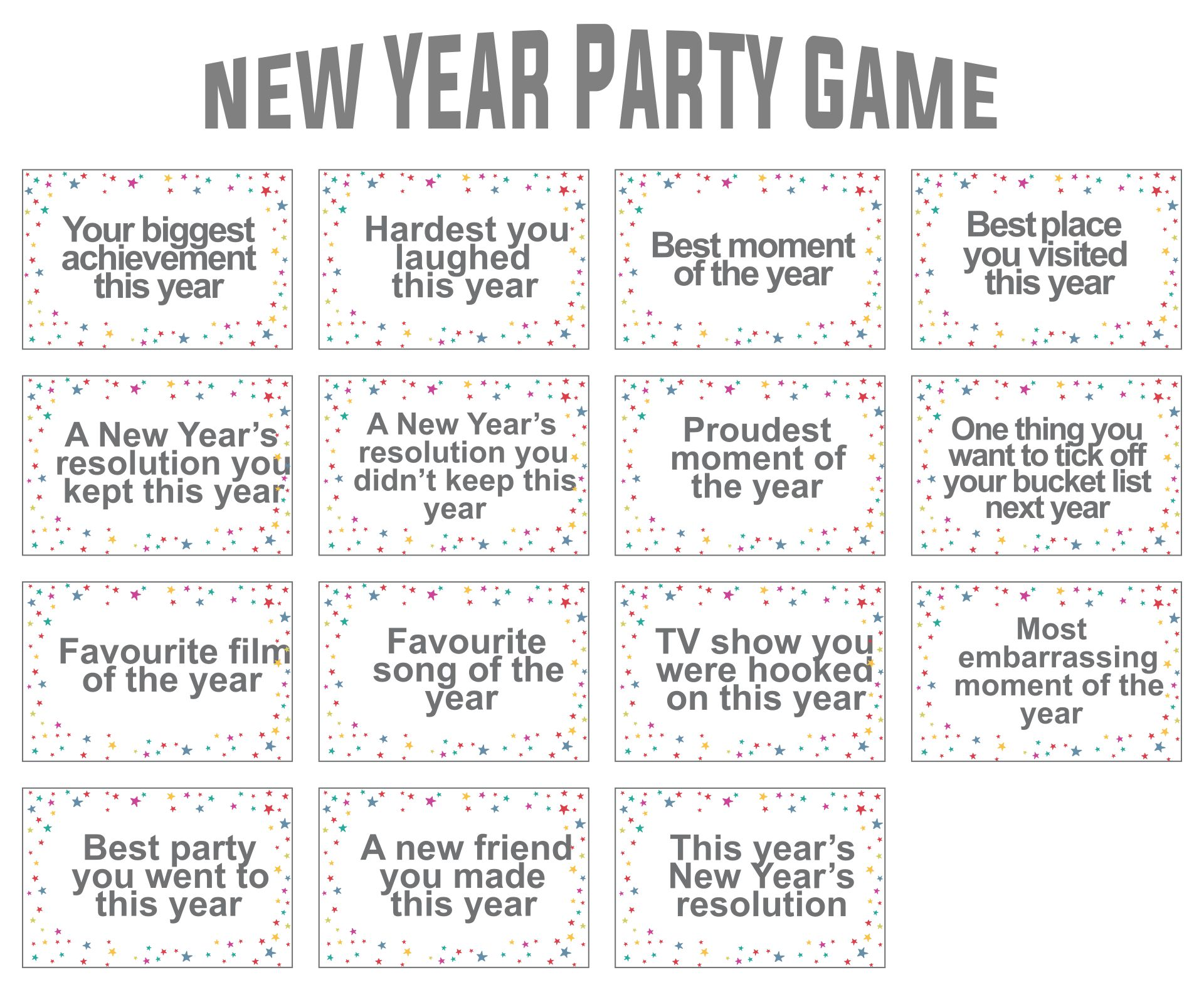 New Year Eve Party Games