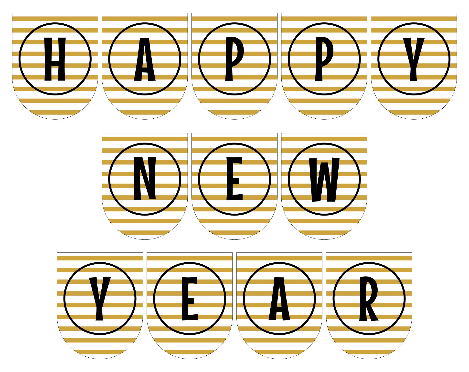 New Years Banner Printable Free