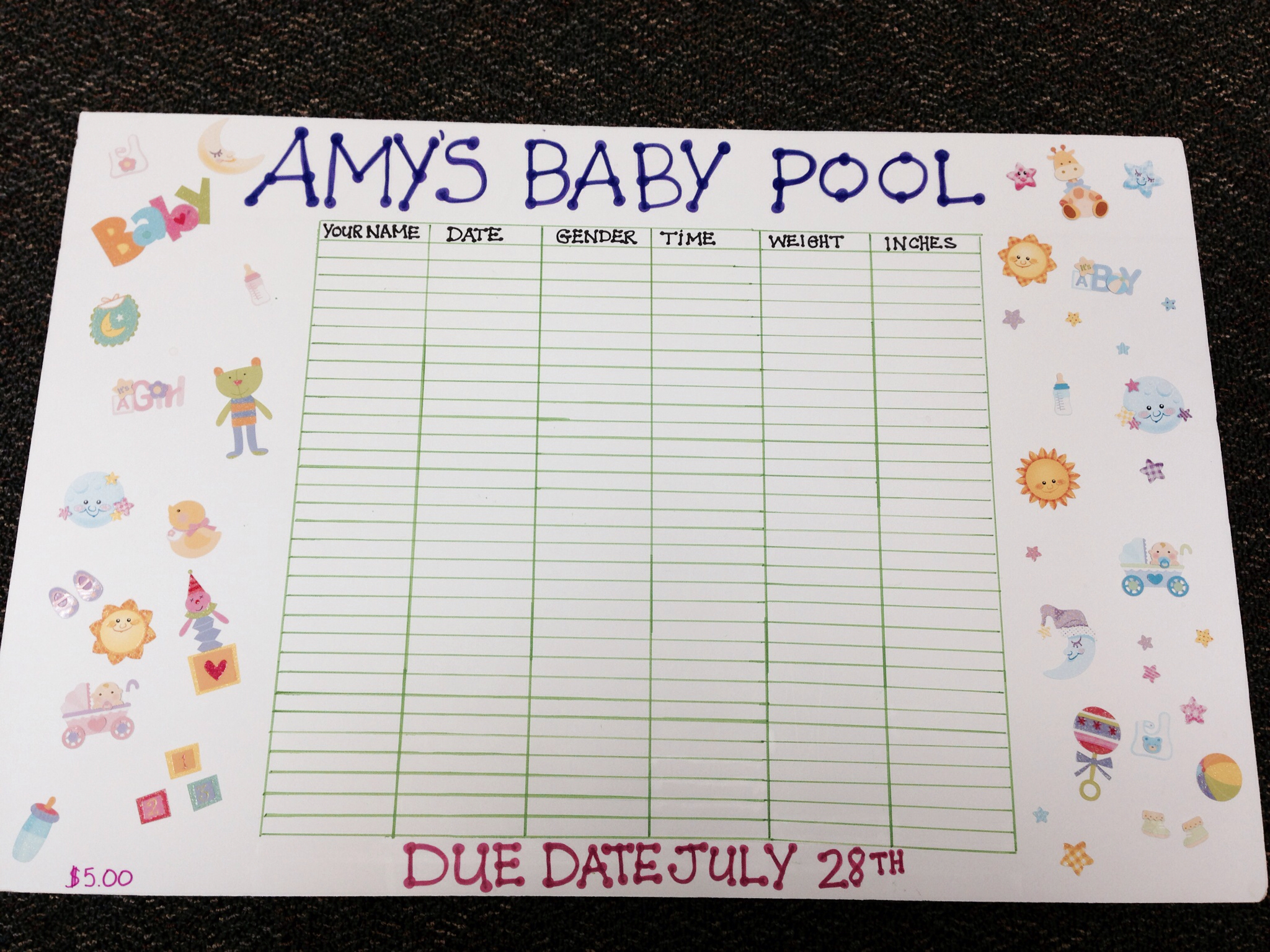 baby weight pool template baby pool template printable and office