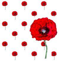 Paper Poppy Flower Pattern Printable