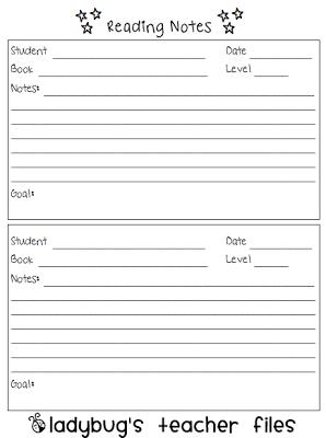 parent teacher conference notes template via
