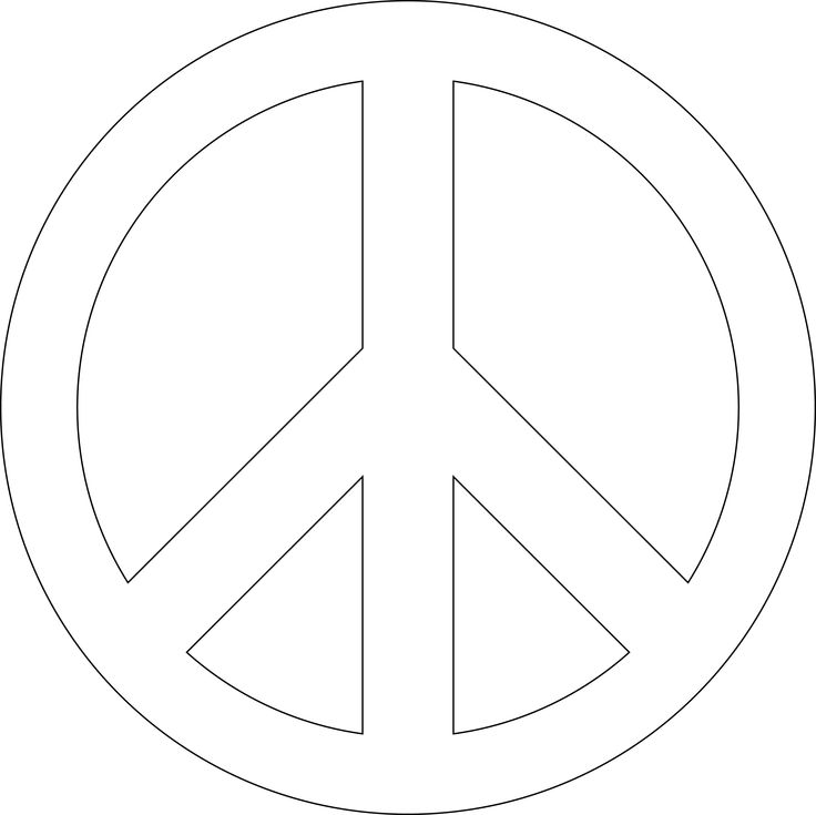 4 Images of Peace Sign Stencil Printable Free
