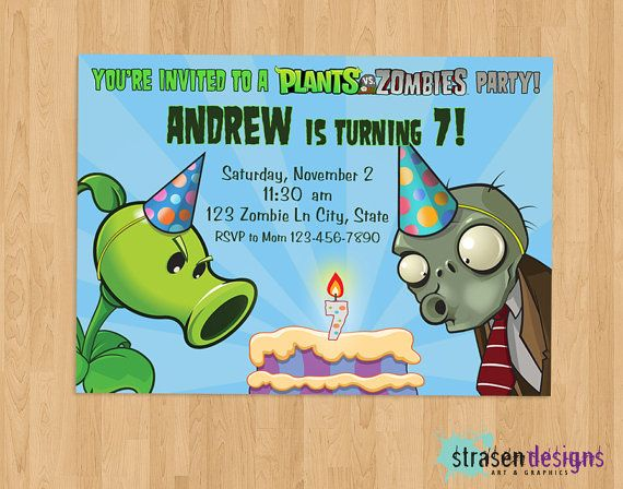 7 Images of Printable Plants Vs Zombies Birthday