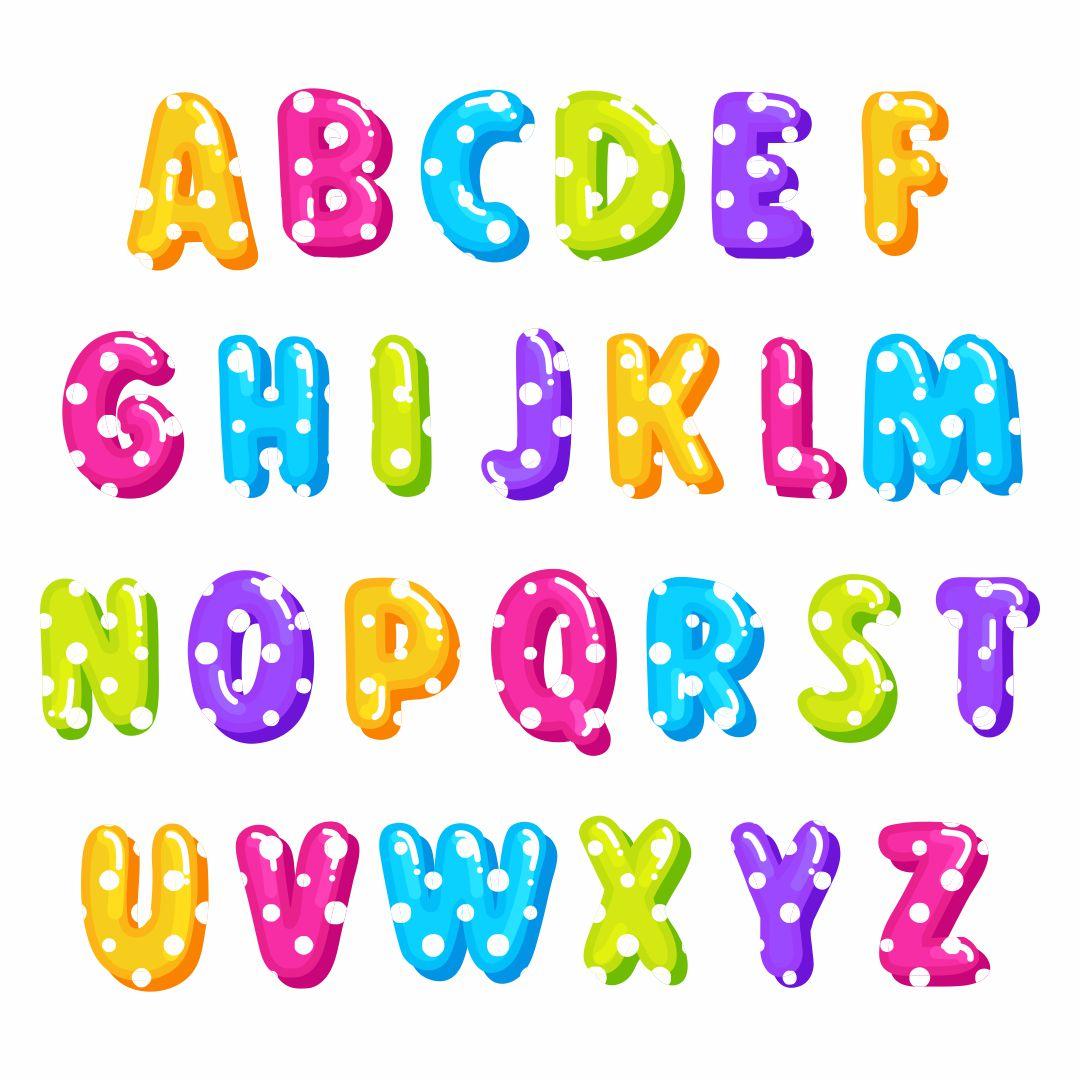 Polka Dot Alphabet Letters to Print