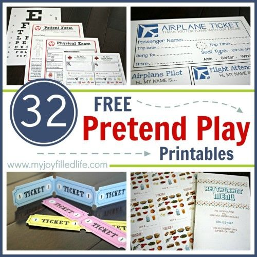7 Images of Free Printable Preschool Dramatic Play Menu