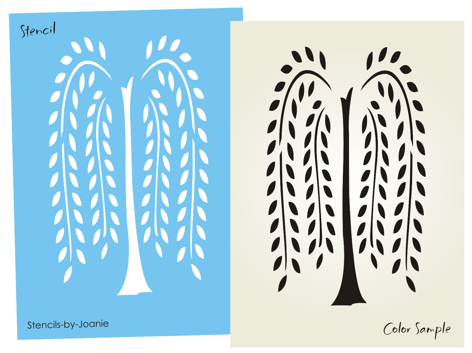6 Images of Willow Tree Stencil Printable