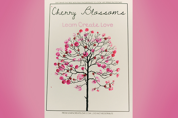 9 Images of Printable Stenci Cherry Blossom Flower