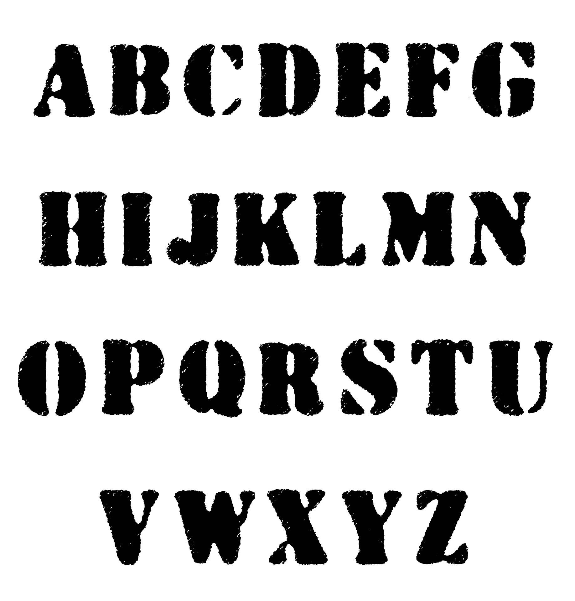 Printable Letter Stencils Different Fonts