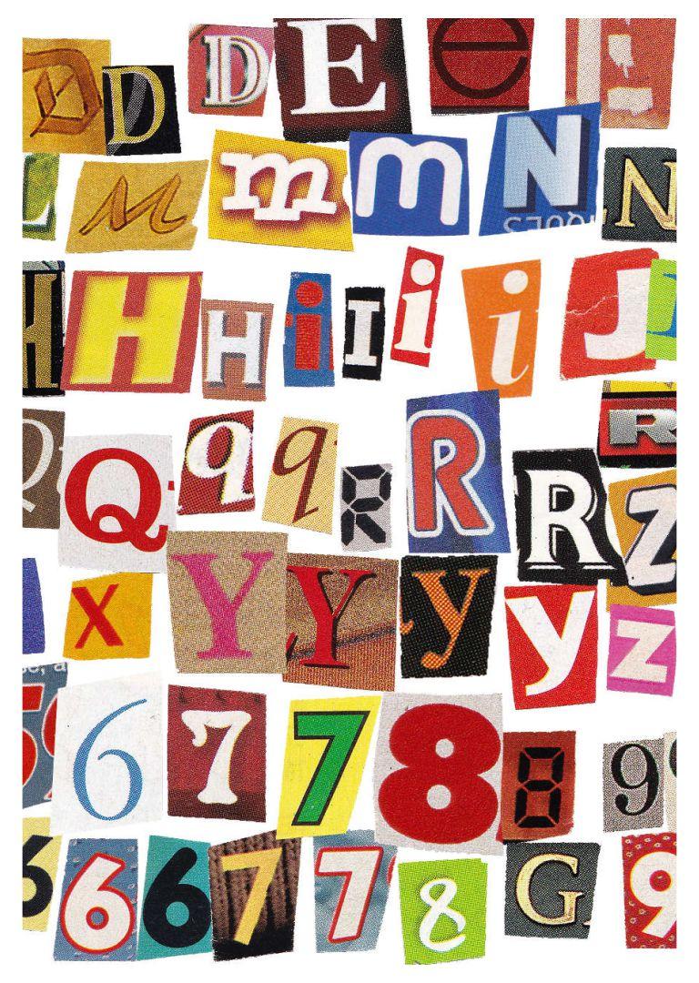 Printable Magazine Letters