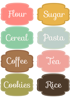 Printable Pantry Labels Free Templates