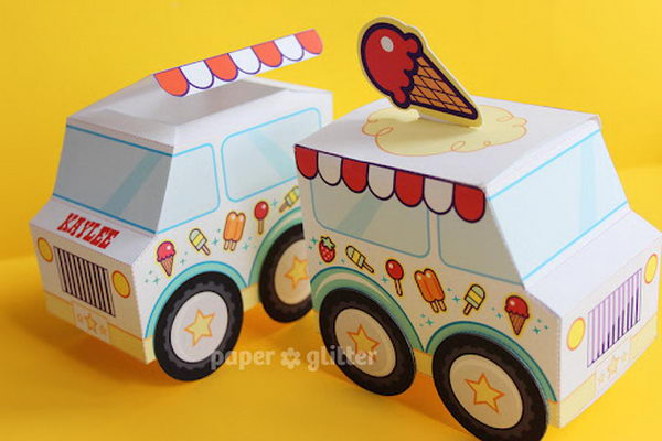 6 Images of Printable Ice Cream Boxes