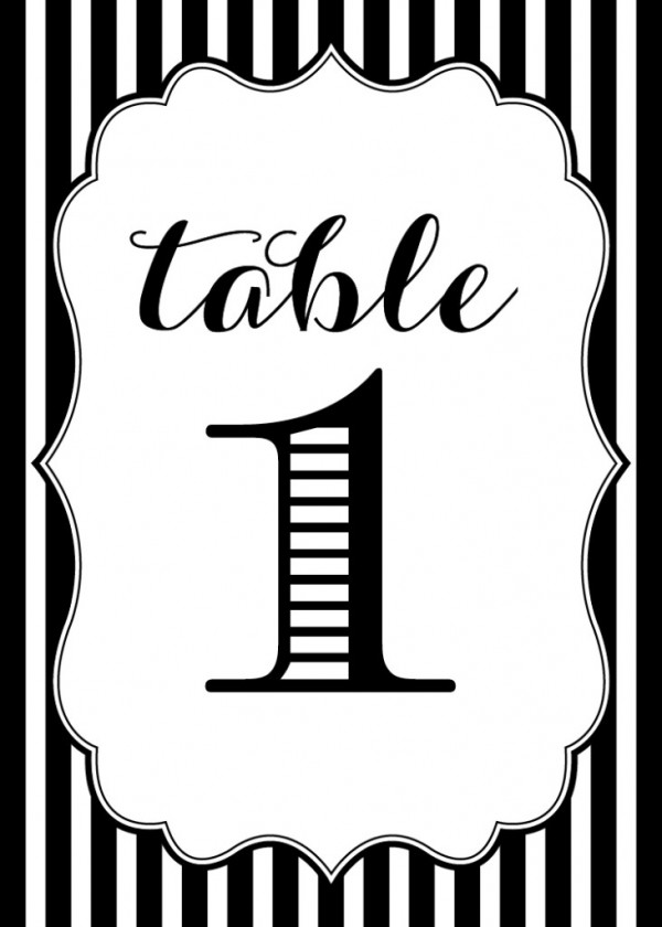 7 Images of Table Numbers Free Printable Template