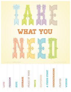 Simplicity image within take what you need printable