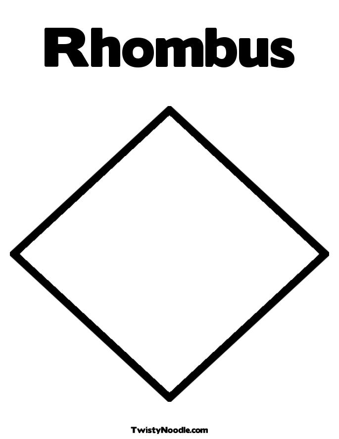 6 Images of Rhombus Coloring Pages Printable
