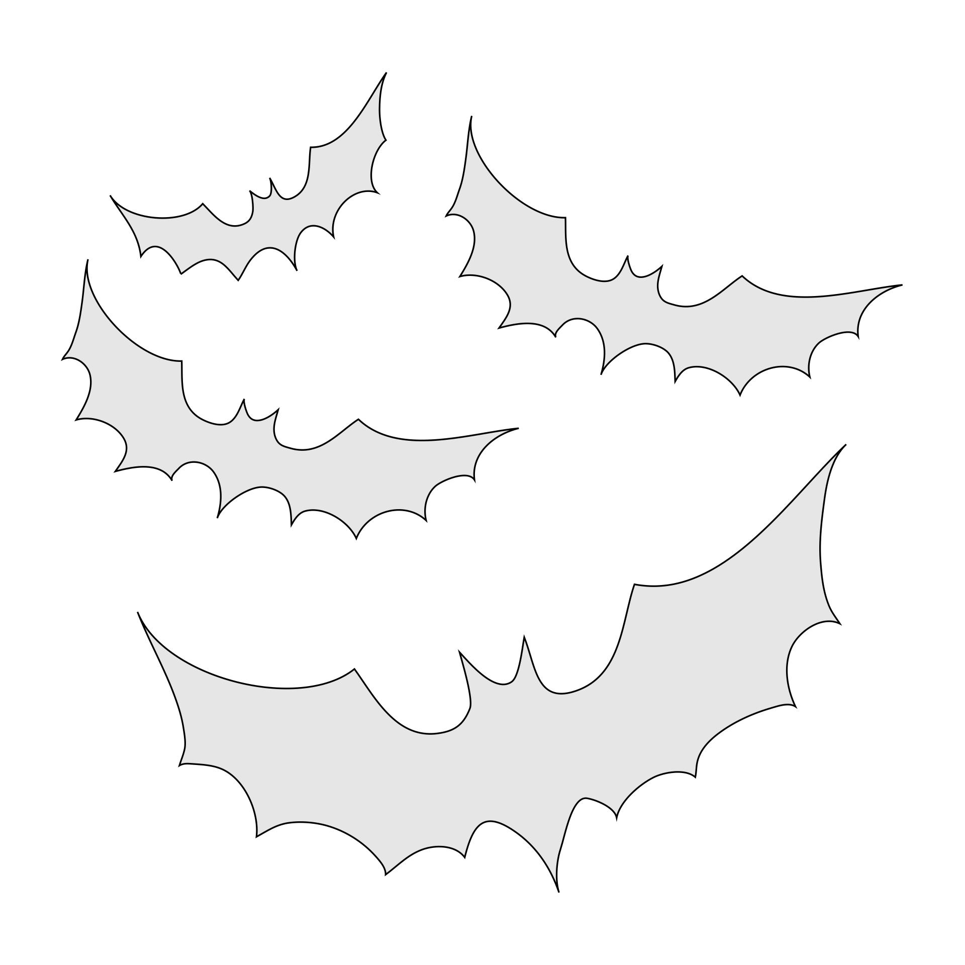 Scary Printable Pumpkin Stencils Bats