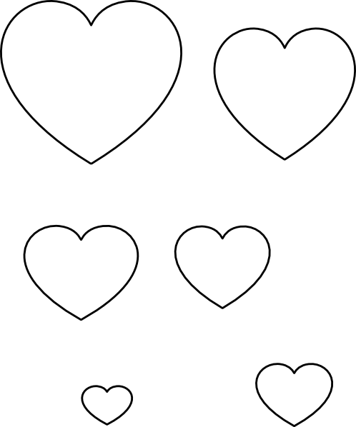 8 Images of Printable Hearts Stencil Art