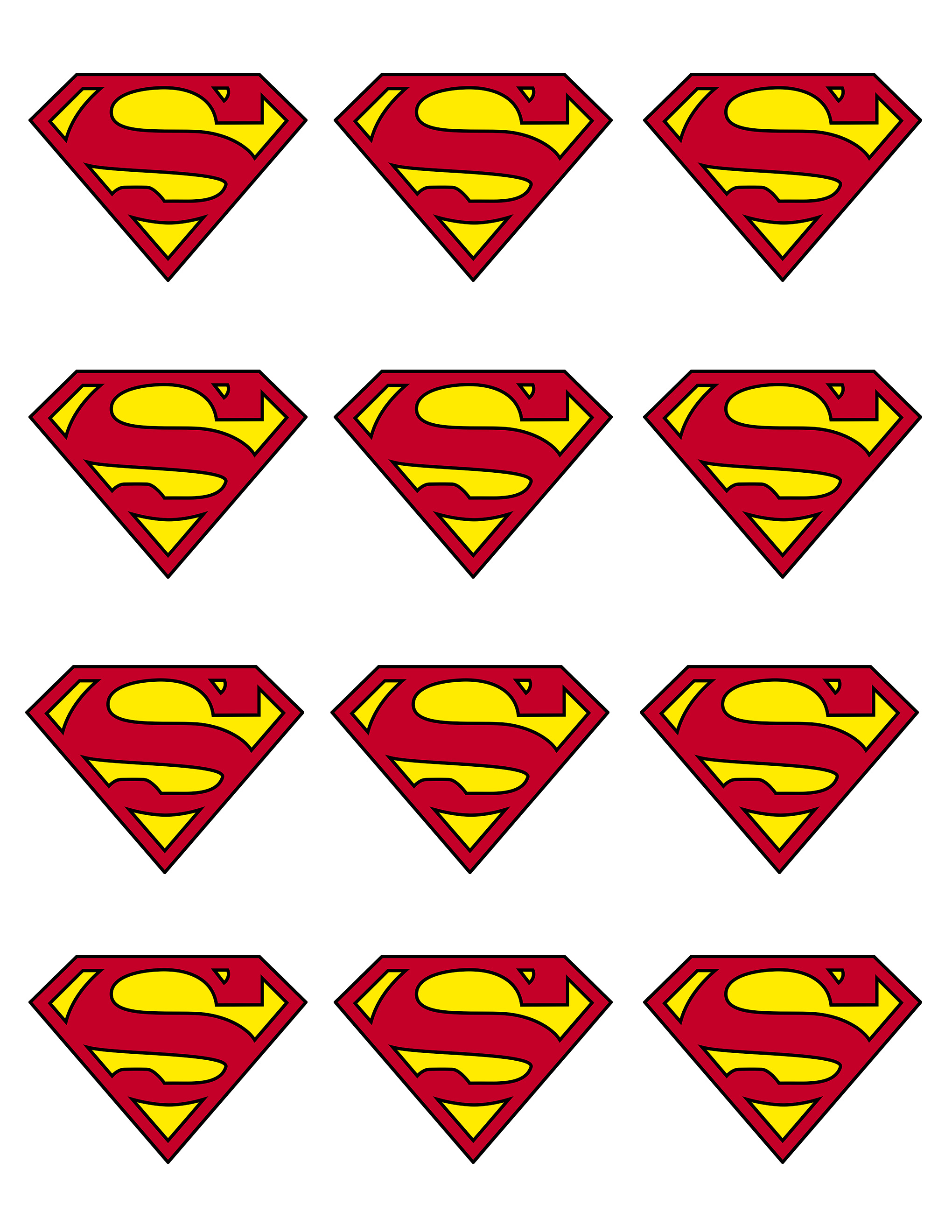 5 Images of Superman Cupcake Toppers Printables