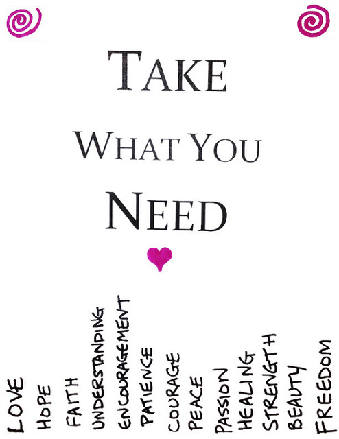 7 Images of Take What You Need Printable