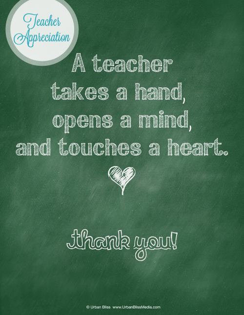 Thank You Teacher Appreciation Week