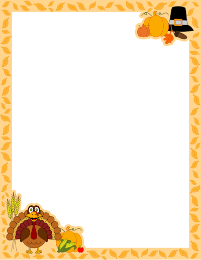 4 Images of Printable Give Thanks Border