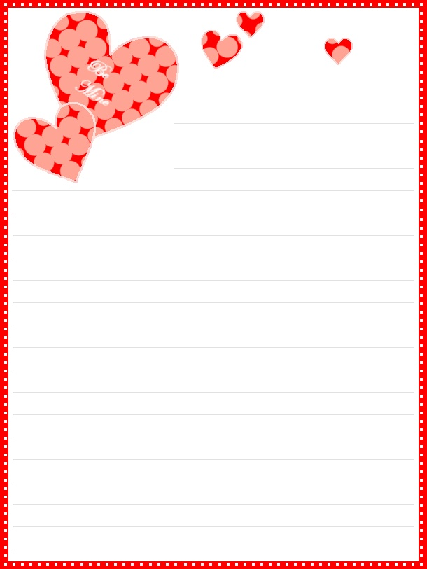 8 Images of Printable Valentine's Day Stationery