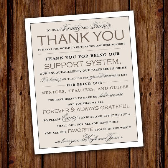 Vintage Wedding Thank You Sign