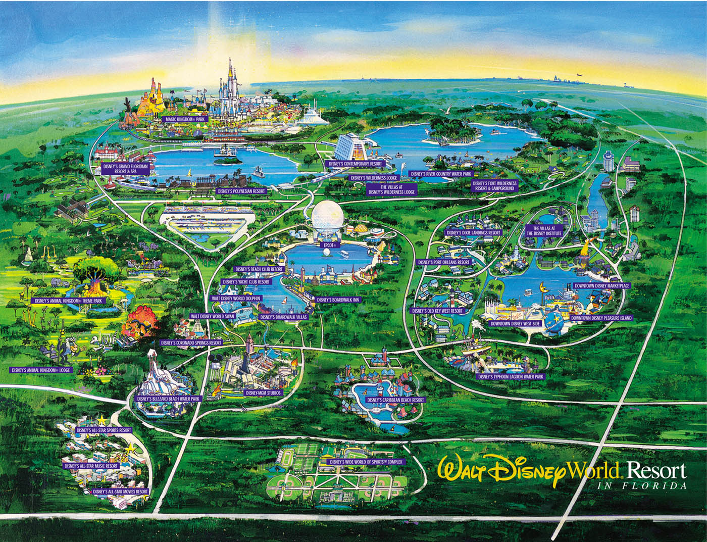 8 Best Images of 2014 Disney World Maps Printable Walt Disney World Resort