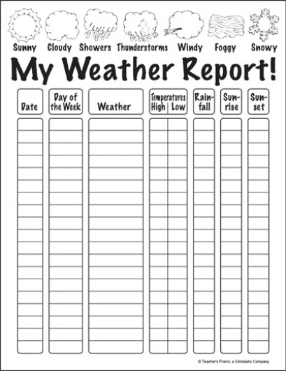 6 Best Images of Printable Weather Forecast Printable