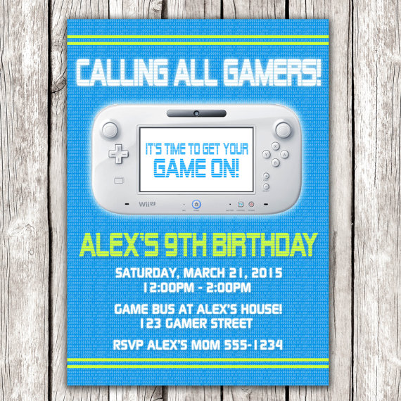 8 Images of Wii Party Invitations Printable